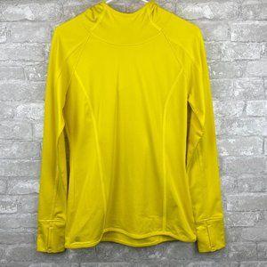Athleta Yellow Plush Tech Long Sleeve Hoodie S
